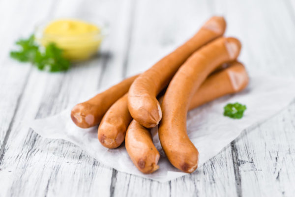 Kyllingpølse wiener 0,5kg pk halal (pris pr pk)