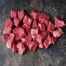Storfe kjøtt i små biter
